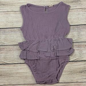 Other - Purple Ruffle Bodysuit